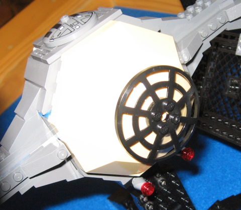 TIE Interceptor with tan windscreen and web