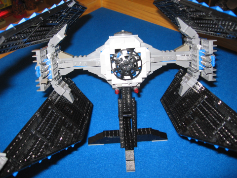 TIE Interceptor with hand-built forward cockpit
